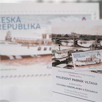 Nová známka s motivem parníku Vltava