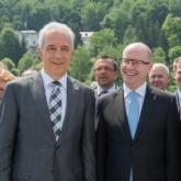 Setkání premiérů na parníku Vltava