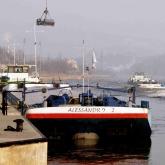 Přeprava součástí námořního jeřábu Alessandro + Alessandro 2